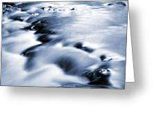 Flowing Stream Greeting Card by Les Cunliffe