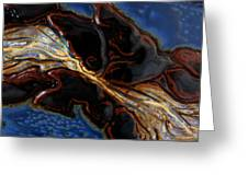 Flowing Textures Greeting Card