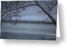 Flowing Through Ice Greeting Card