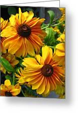 Fluffy Yellows Greeting Card