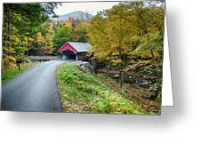 Flume Gorge Covered Bridge Greeting Card