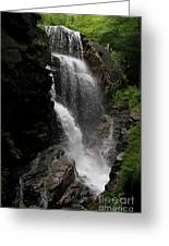 Flume Gorge Waterfall Nh Greeting Card