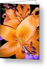Fluorescent Flower Greeting Card