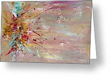 Fly Away Abstract Painting Greeting Card