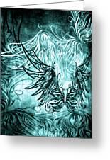 Fly Away Gothic Aqua Greeting Card
