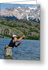 Fly Fishing In Patagonia Greeting Card