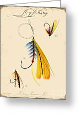 Fly Fishing-jp2098 Greeting Card