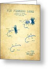 Fly Fishing Lure Patent From 1969 - Vintage Paper Greeting Card