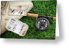 Fly Fishing Rod And Asessories Greeting Card