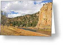 Fly Fishing The Big Hole River Montana Greeting Card