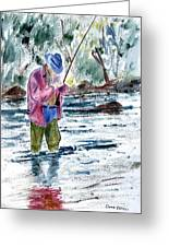 Fly Fishing The South Platte River Greeting Card