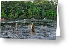 Fly Fishing West Penobscot River Maine Greeting Card