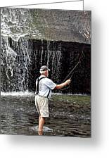 Fly Fishing Without Flies Greeting Card