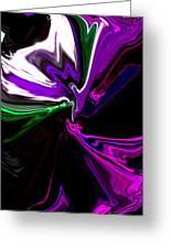 Purple Rain Homage To Prince Original Abstract Art Painting Greeting Card