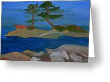 Fly Point Island Greeting Card
