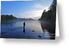 Flyfishing In Maine Greeting Card