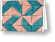 Flyfoot Quilt Block 1 Greeting Card