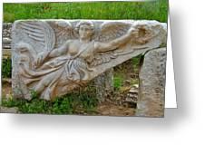 Flying Angel In Ephesus-turkey Greeting Card