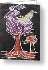 Flying Birds On The Big Tree Greeting Card