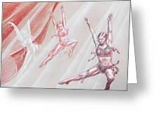 Flying Dancers  Greeting Card