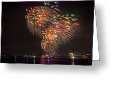 Flying Feathers Of Boston Fireworks Greeting Card