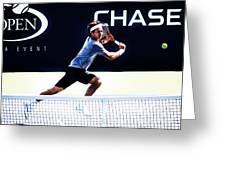 Flying Federer  Greeting Card