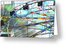 Flying Inside Ferris Wheel Greeting Card