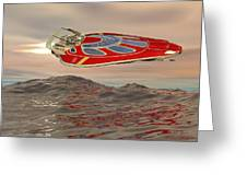 Flying Just Above The Waves Greeting Card