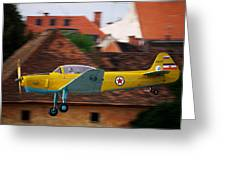 Flying Low Greeting Card by Ivan Slosar