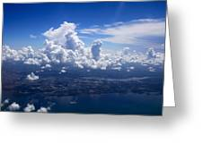 Flying Over Clearwater Greeting Card