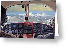 Flying Over North Cascades Greeting Card
