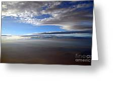Flying Over Southern California Greeting Card