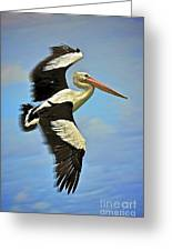 Flying Pelican 4 Greeting Card
