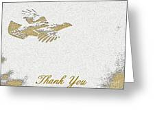 Flying Ruffed Grouse Thank You Greeting Card