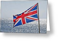 Flying The British Flag Greeting Card