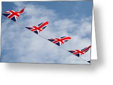 Flying The Union Jack Greeting Card