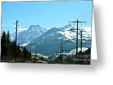 The Way To The Alps Greeting Card
