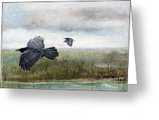 Flying To The Roost Greeting Card