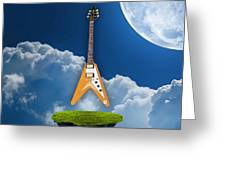 Flying V Guitar Greeting Card