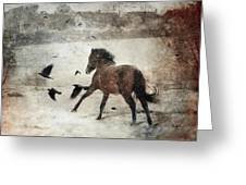 Flying With The Crows Greeting Card