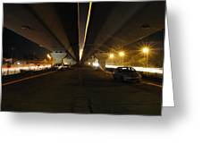 Flyover And A Car Greeting Card