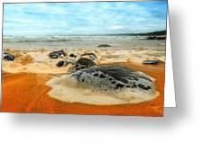 Foam Rocks 01 Greeting Card
