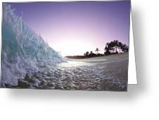 Foam Wall Greeting Card by Sean Davey