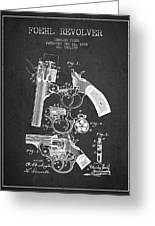 Foehl Revolver Patent Drawing From 1894 - Dark Greeting Card