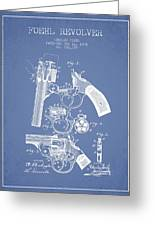 Foehl Revolver Patent Drawing From 1894 - Light Blue Greeting Card