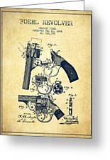 Foehl Revolver Patent Drawing From 1894 - Vintage Greeting Card