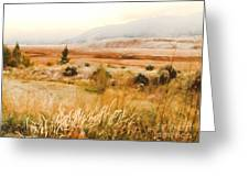 Fog Across The Valley Greeting Card