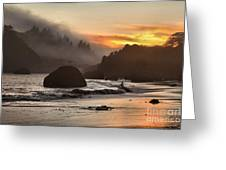 Fog And Fire Greeting Card by Adam Jewell