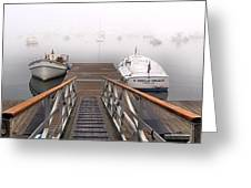 Fog Beyond The Ramp Greeting Card