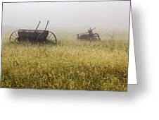 Fog Covered Field Greeting Card